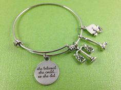 Law School Graduation Bracelet Lawyer Charm Bracelet She