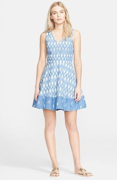 Piece & Co. and Joie 'Norton B.' Chambray Fit & Flare Dress (Nordstrom Exclusive) available at #Nordstrom