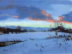 Peter Fiore January at Twilight oil/linen, 12x16----looks just like the central illinois i grew up in…happily!