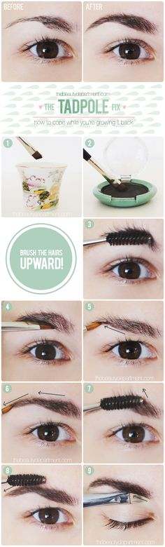 How to disguise over-plucked brows!