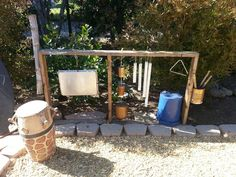 Kids outdoor music station
