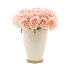 Natural Decorations.Pink Rose Arrangement//