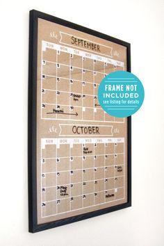 Calendar  Perpetual Calendar  Wall Calendar  Horizontal