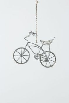 Banana Bay Bicycle Ornament from Anthro. #love