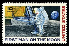 10c Airmail - First Man on the Moon, Neil Armstrong