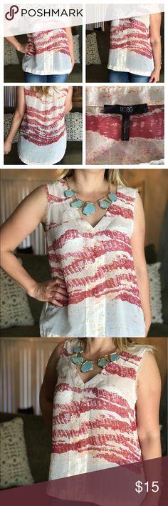 BCBG Blouse sleeveless! BCBG Beige sleeveless blouse! BCBG Paris Tops Blouses