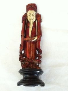 Old Japanese Man Figurine by iLikeEclectic on Etsy