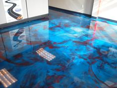 Beautiful Metallic Marble job by Custom Alan Carlson of Concrete Coatings in Rockford Illinois. To learn more call Alan at – epoxy Epoxy Floor Designs, Epoxy Floor Paint, Epoxy Resin Flooring, Metallic Epoxy Floor, Concrete Floors, Epoxy Concrete, Concrete Resurfacing, Concrete Coatings, Floor Coatings
