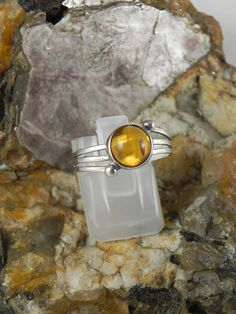 Baltic Amber Sterling Ring by hollywoodrings on Etsy, $25.00