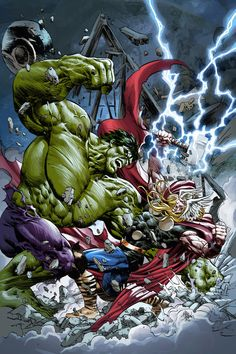 Hulk vs Thor my Mike Deodato Jr