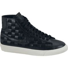 Nike Blazer Mid Woven Women's Shoes - Black, 9.5 ($100) ❤ liked on Polyvore
