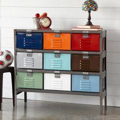 VINTAGE 9-DRAWER LOCKER - Storage Bookcases & Desks - Furniture - Furniture & Decor - Categories | Robert Redford's Sundance Catalog