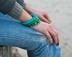 Bracelets – Coil crochet bracelet – a unique product by byMarianneS on DaWanda