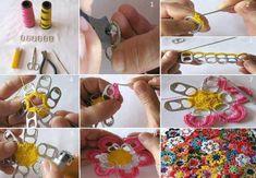 Werkwijze bloem met bliklipjes