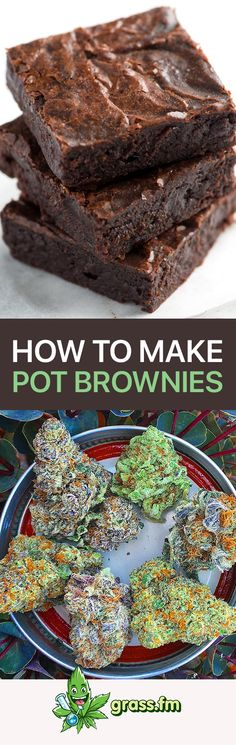 Want to make pot brownies? Click here to learn how! #marijuana #cannabis #cannabiscommunity #edibles #weed #weedbutter #potbrownie