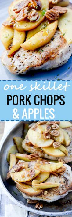 One Skillet Pork Chops and Apples - Recipe Diaries