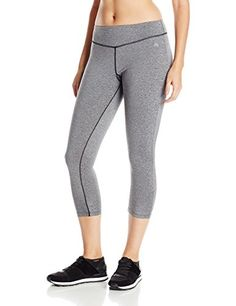 9565c147ad0168 PL Movement by Pink Lotus Women's Capri Legging: Capri-length legging with  wide elastic waistband featuring contrast flatlock seaming with V-yoke  Shirring ...