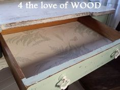 4 the love of wood: VINTAGE DESK in VINTAGE TURQUOISE - mixing annie sloan chalk paint
