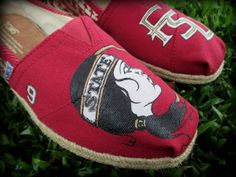 Hand Painted FSU Seminoles Womens TOMS by LifeWellStyled on Etsy
