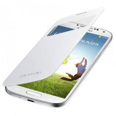 Funda Samsung Galaxy S4 Original S-View Cover - Blanca