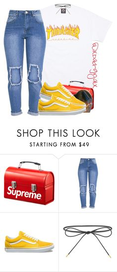 """""""Sk8"""" by xbad-gyalx ❤ liked on Polyvore featuring Vans and Elizabeth and James"""