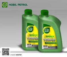 Mobil Petrol product label