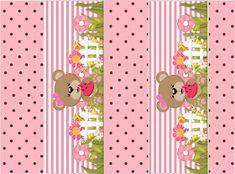 Osita Comiendo Sandía: Kit para Fiestas para Imprimir Gratis. Cute Bear, Clipart, Baby Shower, Shower Ideas, Animal, Digital Invitations, Ideas Aniversario, Bears, Brown