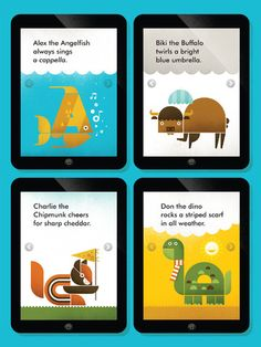 Wee Alphas app for preschoolers -- they'll tackle a zillion different skills all with gorgeous original art.