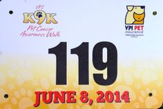 VPI K9K 3K Pet Cancer Awareness Walk (Denver, CO).  Jun 2014. Race Bibs, Cancer Awareness, Jun, Denver, Company Logo, Pets, Logos, Logo, Legos