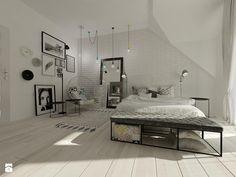 Wnętrza mieszkalne 2015 - Nowoczesny i minimalistyczny pokój Sypialnia - zdjęcie od Art&Design Kinga Śliwa