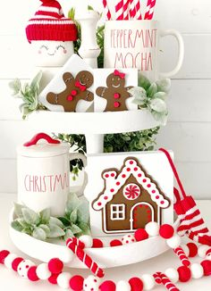 Your place to buy and sell all things handmade Christmas Tea, Christmas Gingerbread, Christmas Kitchen, Christmas Signs, Christmas Holidays, Gingerbread Houses, Country Christmas, Diy Crafts For Gifts, Tray Decor