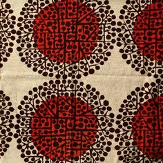 Fabric design (1964-66) by Finnish textile designer Juhani Konttinen | via Marissa Ramirez on tumblr