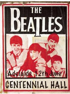 The Beatles Poster Original From 1964