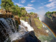 The one-day Zambezi white water rafting trip, from Zambia or Zimbabwe side of the Zambezi River, is considered to be the best available in the world. Best Places To Travel, Places To Visit, Waterfall Wallpaper, Tourism Development, Splash Mountain, Largest Waterfall, Victoria Falls, Great Vacations, Nature Wallpaper