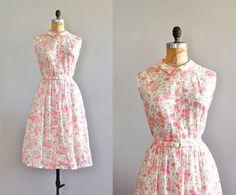 1950s dress / cotton 50s dress / Pinky Cutie dress. $124.00, via Etsy.