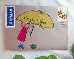 I love this addressing idea! Mail Art Envelopes, Addressing Envelopes, Envelope Art, Envelope Design, Letter Writing, Letter Art, Pen Pal Letters, Decorated Envelopes, Happy Mail