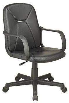 Silla de oficina giratoria sillon despacho escritorio estudio con brazos. Negro - http://vivahogar.net/oferta/silla-de-oficina-giratoria-sillon-despacho-escritorio-estudio-con-brazos-negro/ -