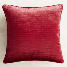 Add a touch of dramatic elegance with our velvet striped pillow featuring a self-piped border. Toss it on your bed, sofa or favorite accent chair to add a bit of sophisticated shimmer. A concealed zipper offers easy access to the included poly insert.