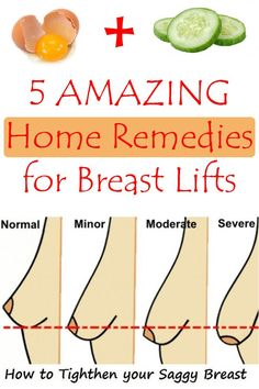 5 Amazing Home Remedies for Breast Lifts//The most common method of lifting the breasts is the surgery, but we have a couple of home remedies for those who do not want to use such radical methods. Health And Beauty Tips, Health And Wellness, Health Tips, Health Fitness, Health Remedies, Home Remedies, Natural Remedies, Natural Treatments, Beauty Secrets