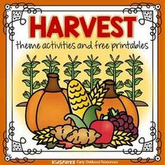 Harvest theme activities and printables for preschool and kindergarten - KIDSPARKZ