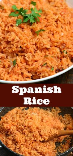 A perfect compliment to many Mexican dishes. It's the perfect side… Spanish Rice. A perfect compliment to many Mexican dishes. It's the perfect side dish to go with your favorite enchiladas, tacos, and burritos. Taco Side Dishes, Mexican Side Dishes, Mexican Rice Recipes, Dishes To Go, Rice Recipes For Dinner, Dinner Side Dishes, Spanish Dishes, Rice Dishes, Side Dish Recipes