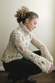 Turtleneck Sweater with Satin Ribbon. $159.00