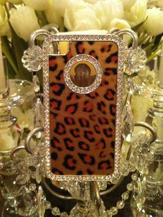 Leopard and Rhinestone IPhone 4 case super by GlitzGlamourandBling, $10.00