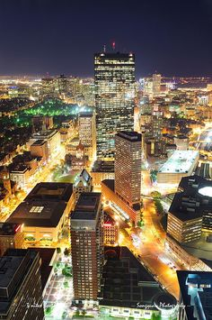"""Boston at night. """"i'm in love with cities i've never been too"""""""