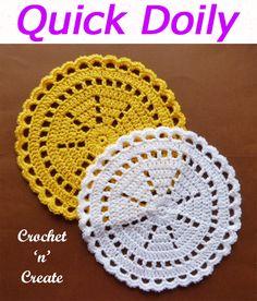 Doily-Mandala - Free Crochet Patterns on Crochet n Create Free Crochet Doily Patterns, Crochet Coaster Pattern, Crochet Patterns For Beginners, Crochet Motif, Knit Crochet, Crochet Tree, Knitting Tutorials, Knit Cowl, Hand Crochet