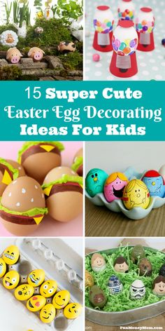 do you love most about Easter? If you say the Easter eggs, you're going to love these adorable Easter egg decorating ideas!What do you love most about Easter? If you say the Easter eggs, you're going to love these adorable Easter egg decorating ideas! Easter Egg Crafts, Plastic Egg Crafts For Kids, Easter Egg Hunt Ideas, About Easter, Boyfriend Crafts, Diy Ostern, Egg Designs, Egg Decorating, Sunroom Decorating