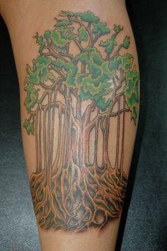 Banyan Tree | Inksters Tattoo Inc.
