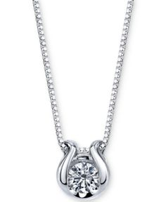 ) Pendant Necklace in Gold - White Gold Diamond Solitaire Necklace, 14k Gold Necklace, Pendant Necklace, Pendant Design, Gold Set, Gold Pendant, Diamond Pendant, Jewelry Watches, White Gold