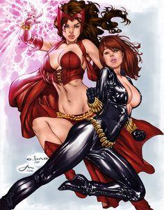 Scarlet Witch & Black Widow