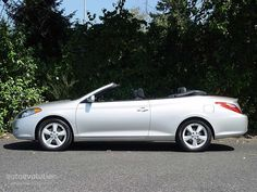 """I don't covet many """"newer"""" cars, but this is one I do. I have had several Toyotas in my lifetime, including a Camry that went miles before it died. Never had a bad experience with one. This is one sweet car. Toyota Solara Convertible, Sweet Cars, Love Car, Toyota Camry, Wheels, Awesome, Board, Products, Cute Cars"""